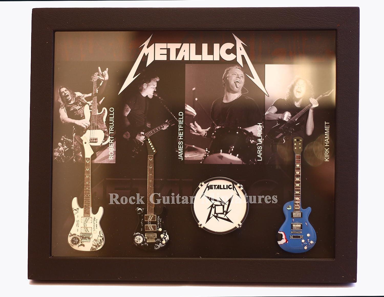 rgm8861 Metallica guitarra en miniatura recogida en el marco de ...