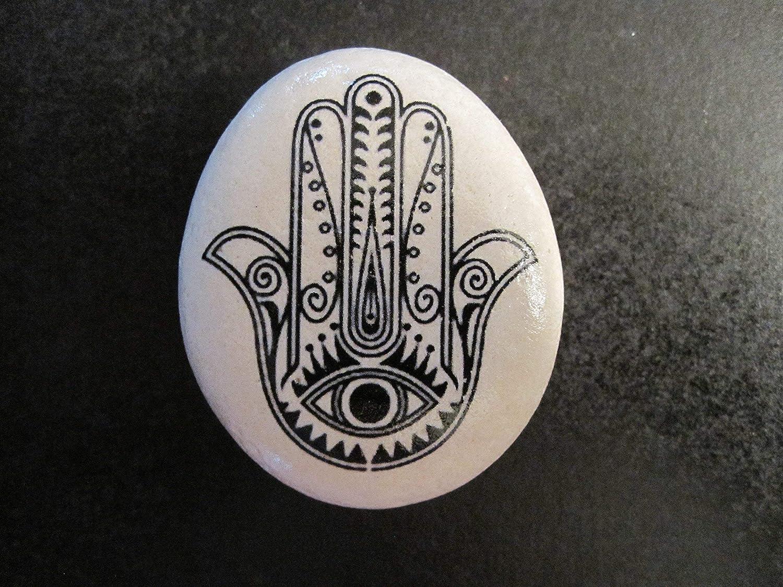 Hamsa Stone- Hamsa art -Hamsa -Decorative stone- rock art