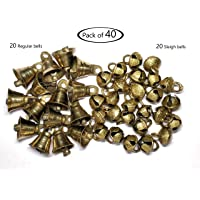 SUPVOX 100pcs Christmas Bells Ornaments Rusty Jingle Bell Xmas Tree Hanging Decorations for Holiday Party Supplies DIY Craft Making