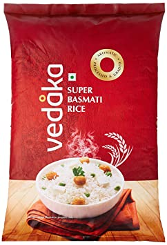 Amazon Brand - Vedaka Super Basmati Rice, 5 kg