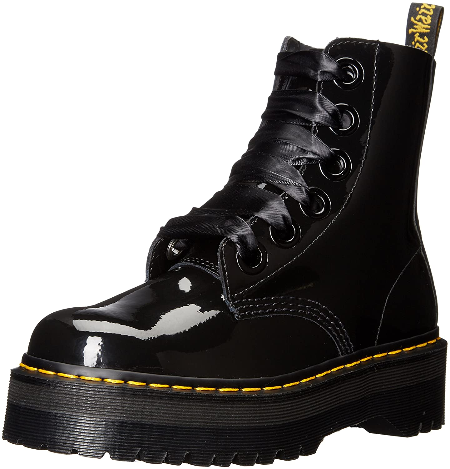 Dr. Martens Women's Molly Combat Boot B01AOACVRA 6 UK/8 M US|Black