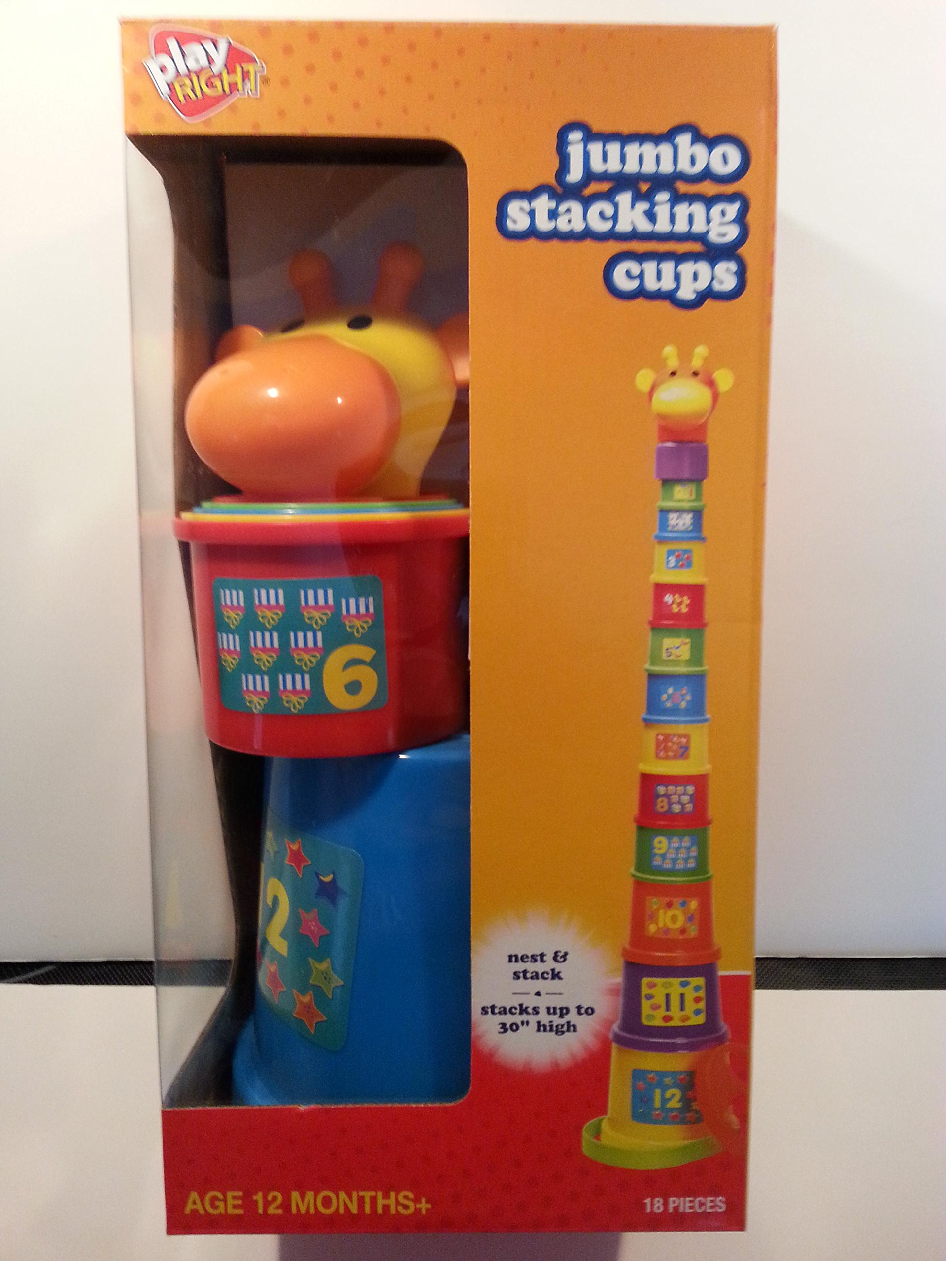Play Right Jumbo Stacking Cups