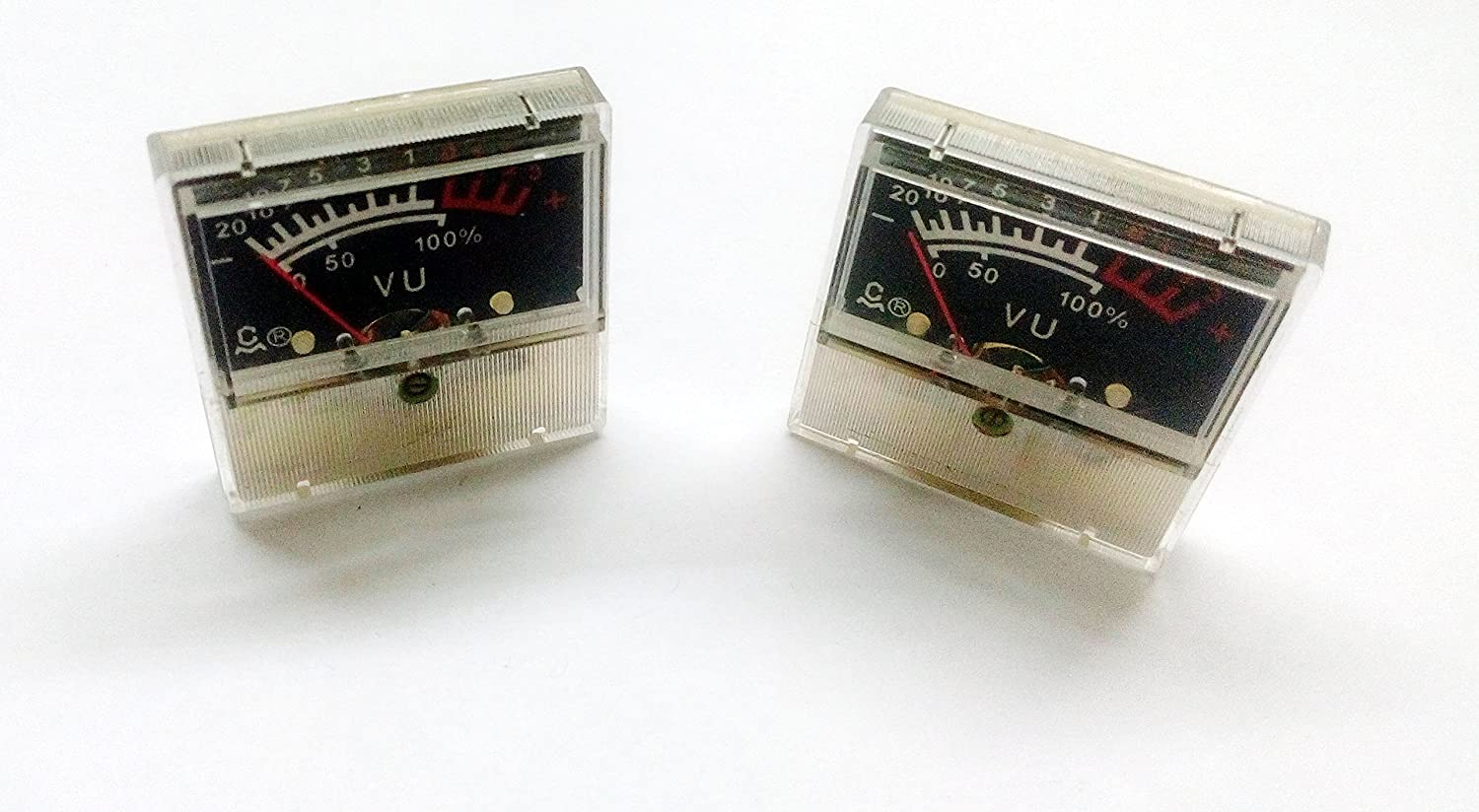 pke Analog Panel VU Meter Audio Level Indicator Meter for Amplifier Speaker  - 2 Pcs