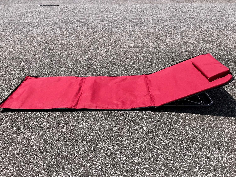 Taglia Unica Unisex Adulto Blu PAPILLON 8043521/Tappetino Spiaggia Imbottita reclinabile con Schienale Pieghevole