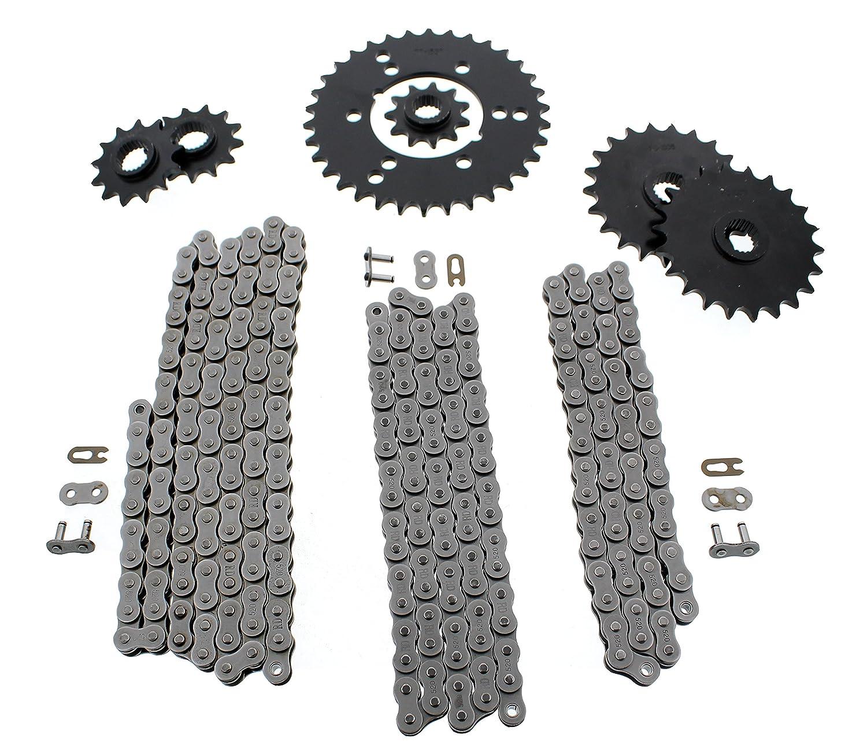 520-64L,70L,84L for 1995-1998 Polaris Xplorer 400 4X4 Non O-Ring Chain 3 Chain