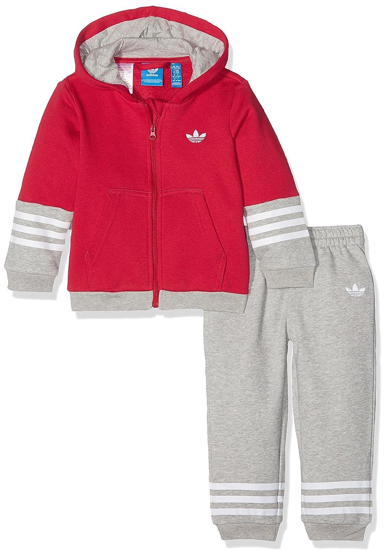 adidas Kinder Hooded Fleece Trainingsanzug