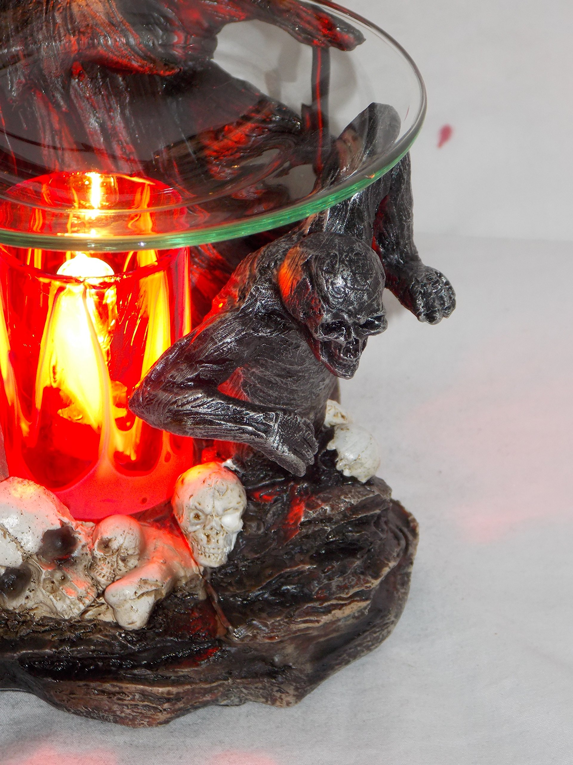New Grim Reaper In Skull Graveyard Fragrance Oil Burner Tart Warmer With Dimmer by Grim Reaper in Graveyard Oil Burner Warmer (Image #3)