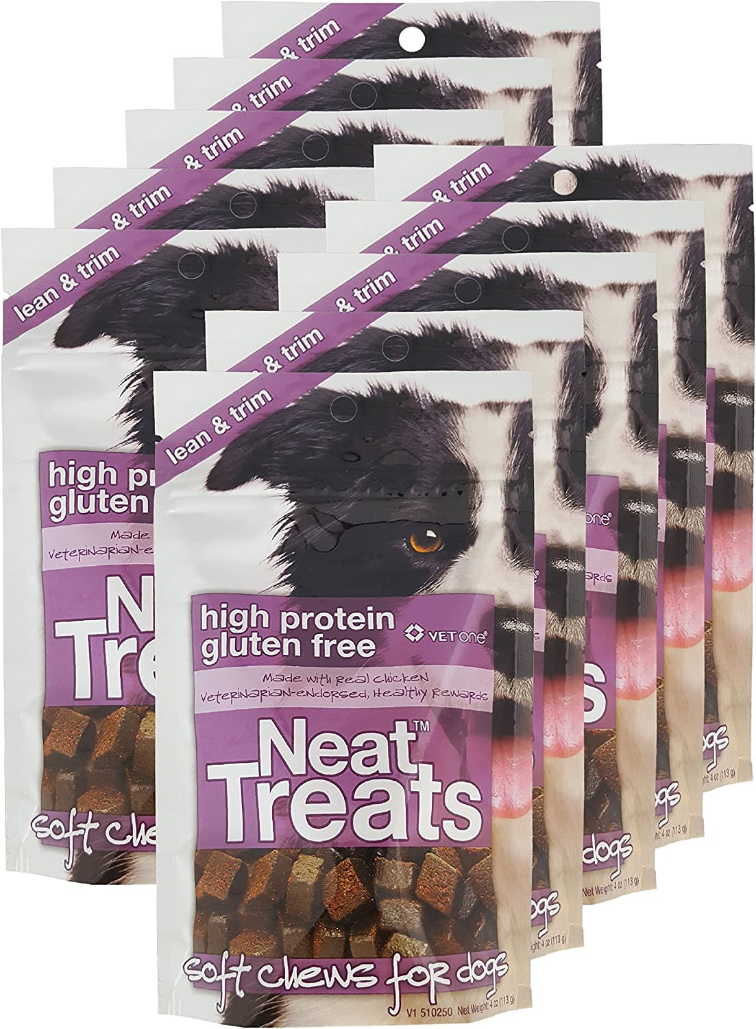 VET ONE 840235138242 10-4 oz Resealable Neat Treats Soft Chews for Dogs