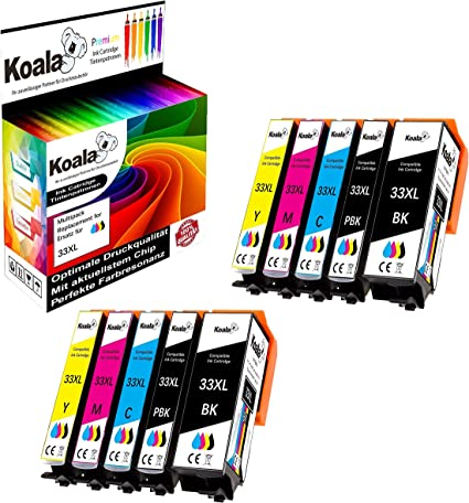 Koala - 10 cartuchos de tinta compatibles con Epson 33XL T3351 ...