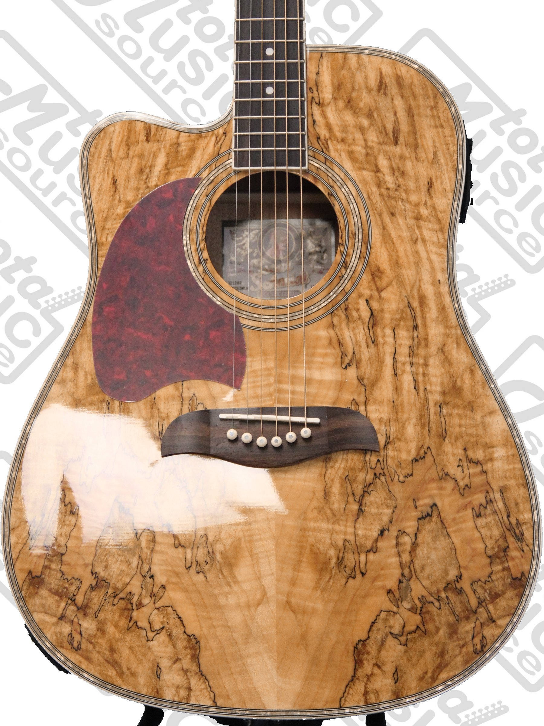 oscar schmidt dreadnought acoustic electric guitar spalted maple left handed hard case bundle. Black Bedroom Furniture Sets. Home Design Ideas