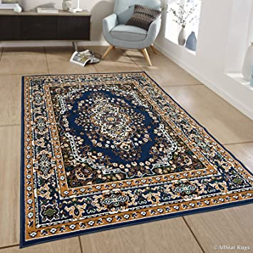 80x300cm **FREE DELIVERY** M Details about  /SULIS MEDALLION BLUE IVORY TRADITIONAL RUG RUNNER
