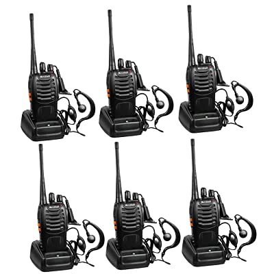 Arcshell Rechargeable Long Range Two-Way Radios with Earpiece 6 Pack UHF 400-470Mhz Walkie Talkies Li-ion Battery and Charger Included: Car Electronics [5Bkhe2004637]