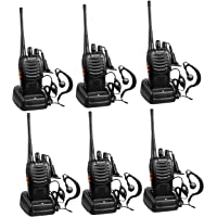 $65 » Arcshell Rechargeable Long Range Two-Way Radios with Earpiece 6 Pack Walkie Talkies Li…