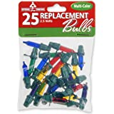 National Tree 25 Multi Replacement Bulbs for 50 Light Sets, 2.5 Volt (RBG-25M)