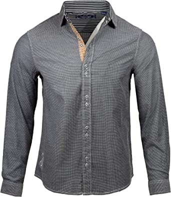 English Heroes by Rock Roll n Soul EHW109 L//S Button Down Woven Shirt for Men