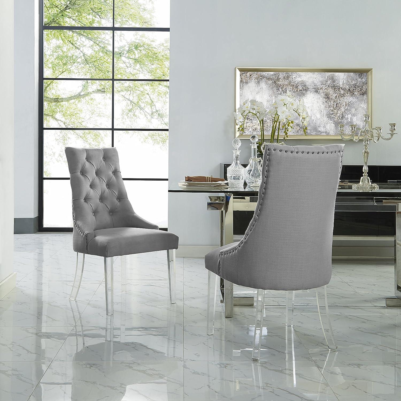 Amazoncom Marilyn Light Grey Dining Chair