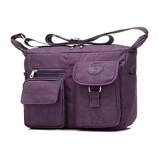 Women's Shoulder Bags Casual Handbag Travel Bag Messenger Cross Body Nylon Bags Purple