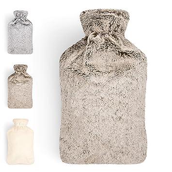 Bolsa De Agua Caliente | Botella De Agua De Gran Capacidad (2 L) | Con Funda De Material Suave Y Agradable | Bolsa De Calor 100% Eco Friendly | ...