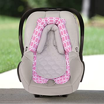 Goldbug 2 In 1 Infant Car Seat Head Support Pink White