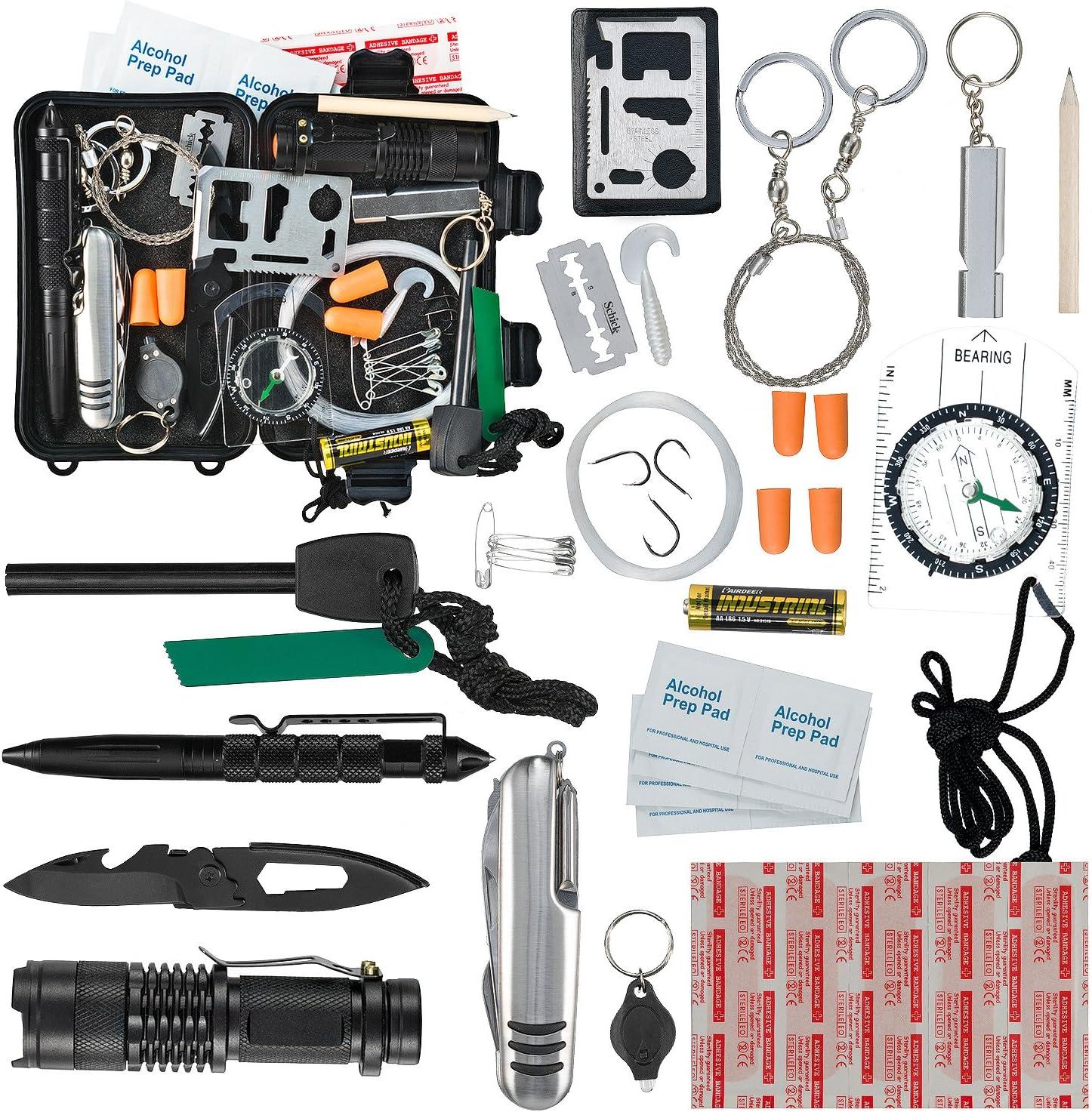 EDC Assorted Multi tool Keyring Survival Emergency Camping Hiking Tools