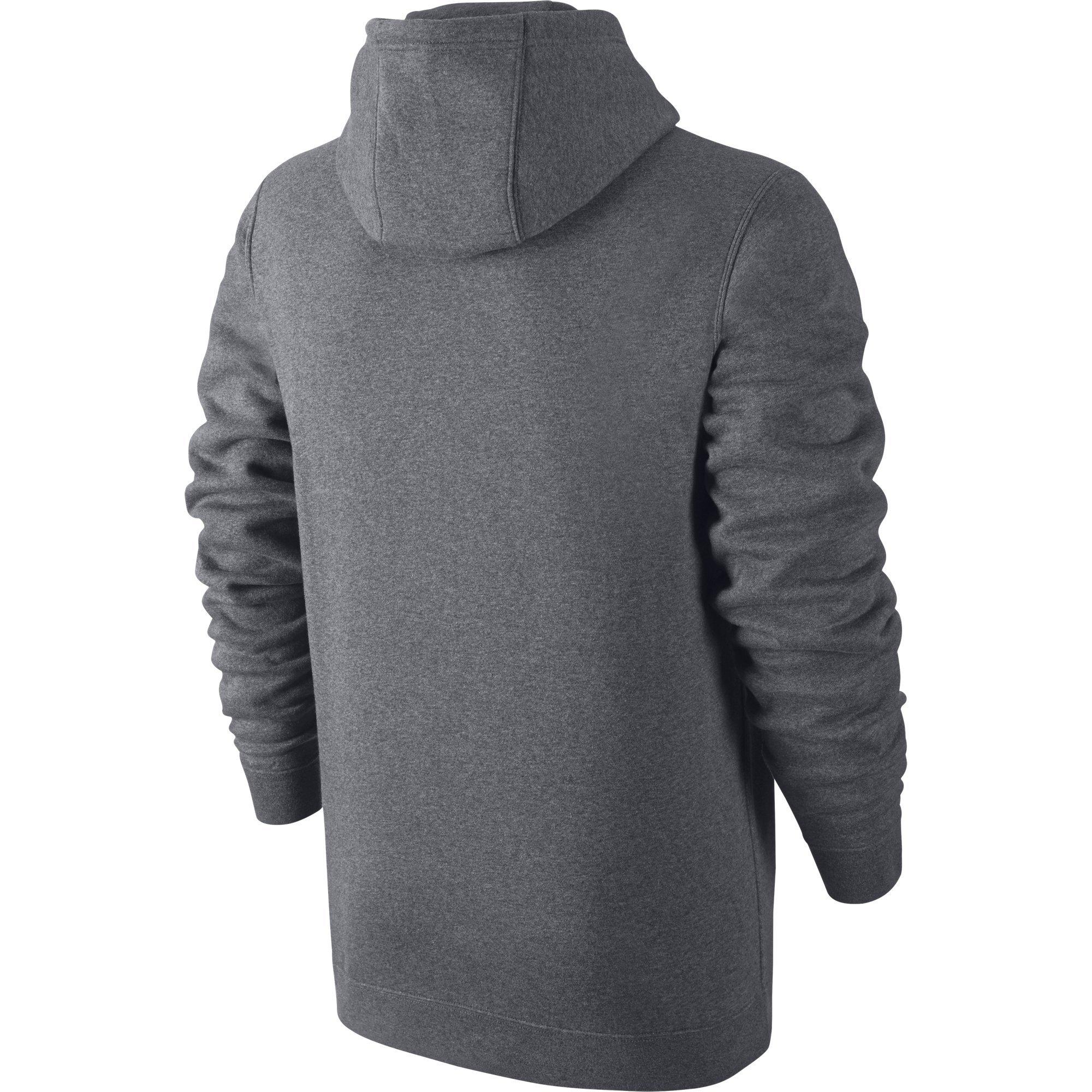 Men's Nike Sportswear Club Pullover Hoodie, Fleece Sweatshirt for Men with Paneled Hood, Charcoal Heather/Charcoal Heather/White, S by Nike (Image #2)