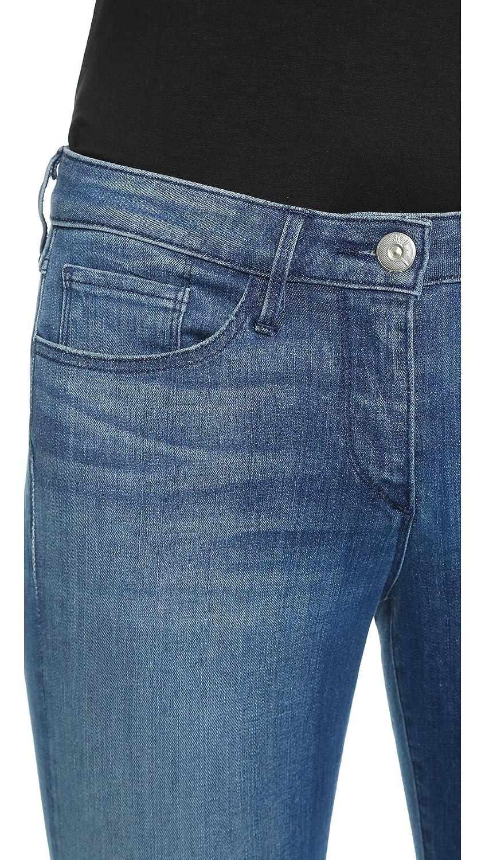 3x1 Women's W2 Mid Rise Crop Skinny Fray Jeans