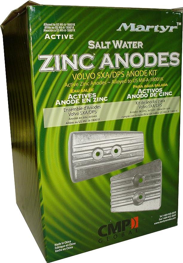Martyr Zinc anoden Kit para Volvo Penta sxa/DPS cmsxa kitz: Amazon.es: Deportes y aire libre