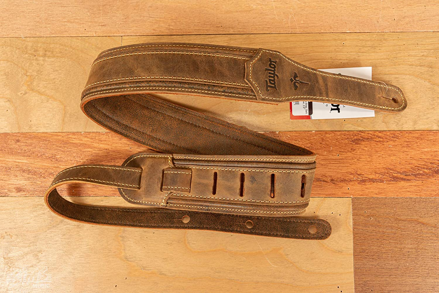 Taylor Century 2.5 Inches Guitar Strap Medium Brown Butterscotch Black Leather