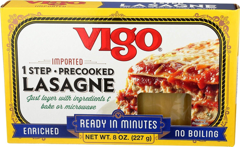 Vigo, Pasta Lasagna No Boil, 8 Ounce