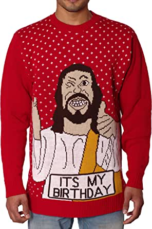 NOROZE Unisex Mens Ugly Naughty Knitted Christmas Jumper