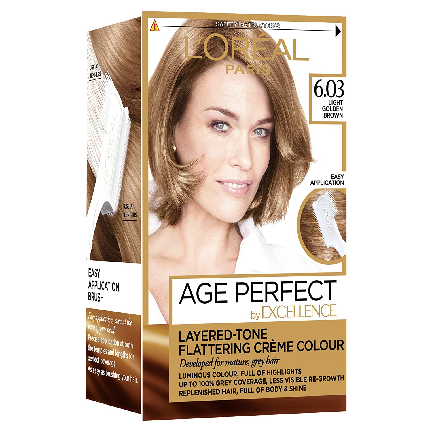 Loreal Excellence Age Perfect 603 Light Golden Brown Hair Dye