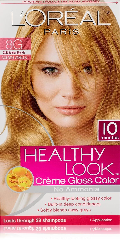Amazon Loreal Paris Healthy Look Hair Color 8g Soft Golden