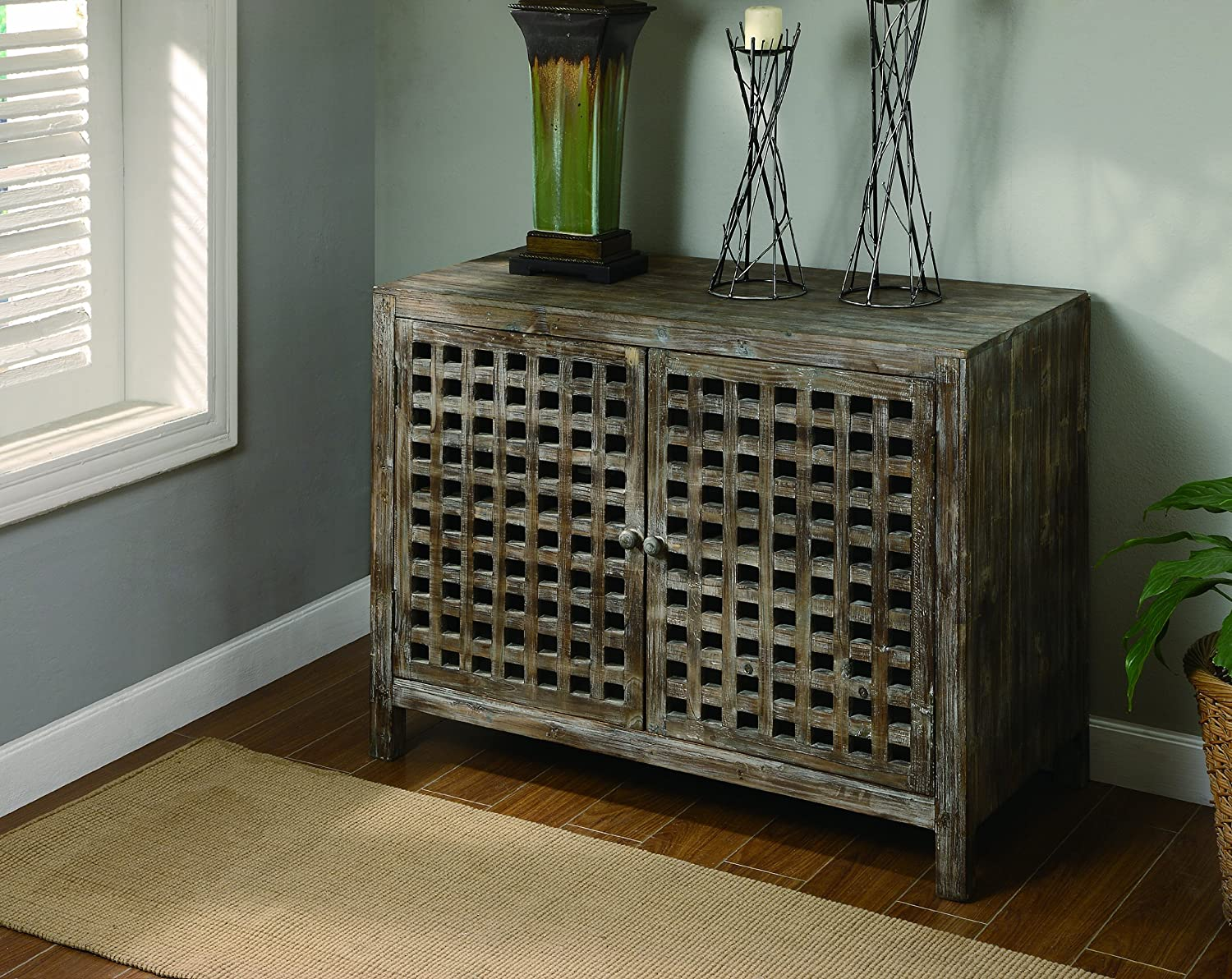 Amazon.com: Crestview Collection Rustic Buffet Cabinet: Kitchen ...