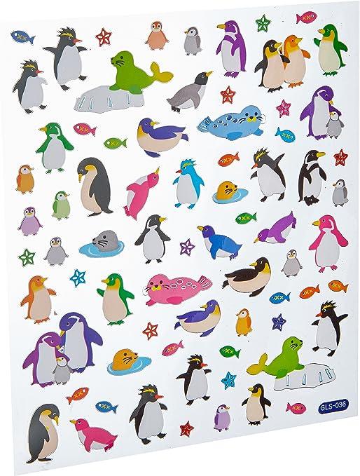 King de Tatuaje, Multicolor pingüinos Pegatinas, acrílico, Multicolor, 6: Amazon.es: Hogar