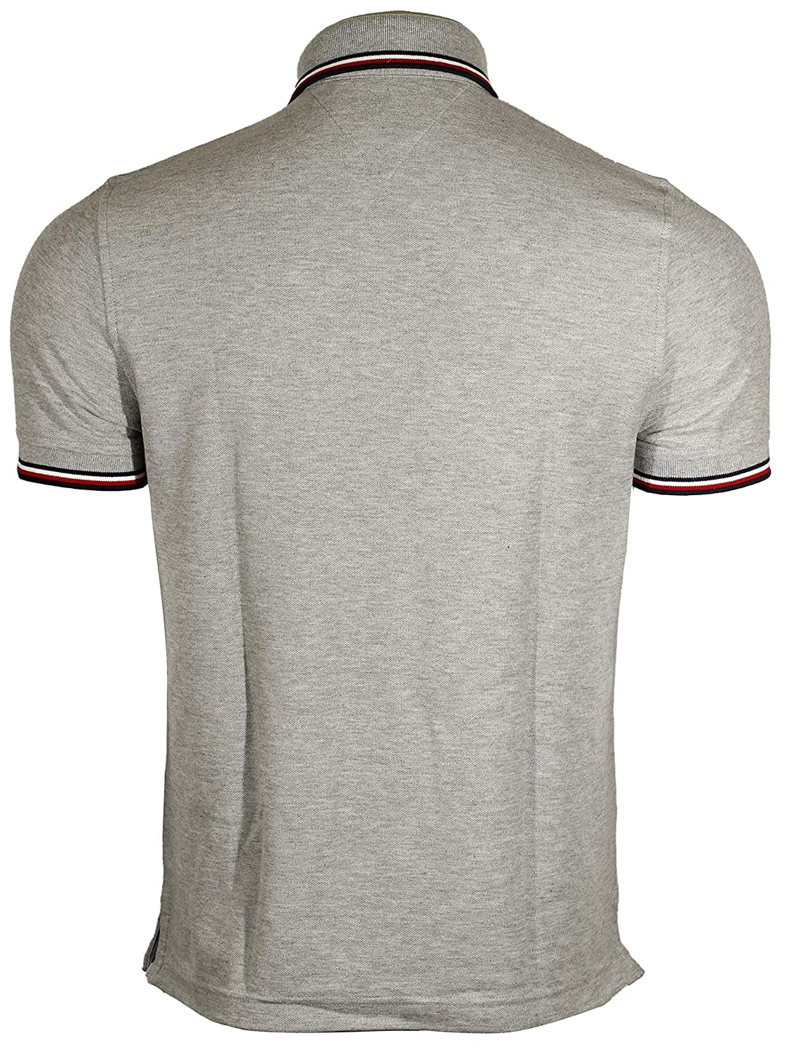 53e835c926 Tommy Hilfiger Men's Striped Collar Polo at Amazon Men's Clothing store: