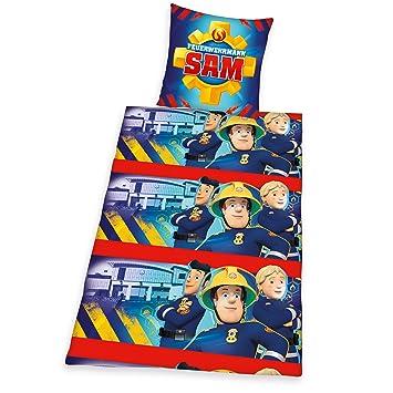 Herding 467618050 Bettwäsche Feuerwehrmann Sam Kopfkissenbezug 80 X