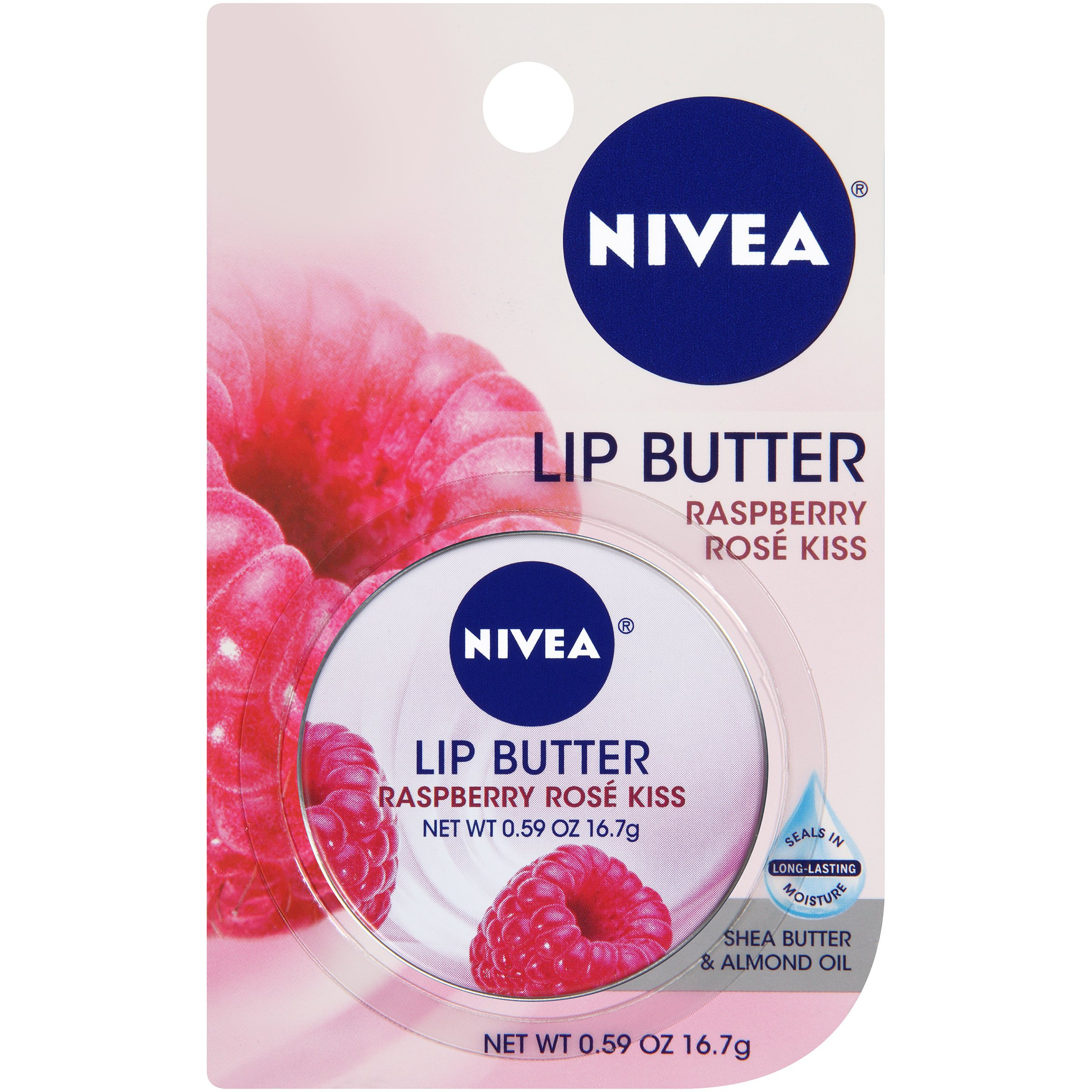 NIVEA Lip Butter Kiss Tin, Raspberry Rose 0.59 oz (Pack of 7)