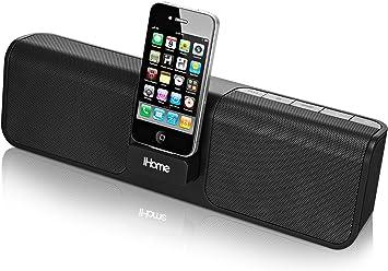 Amazon Com Ihome Ip46 Portable 30 Pin Ipod Iphone Speaker Dock Home Audio Theater