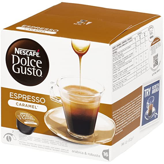 NESCAFÉ Dolce Gusto Café Espresso Caramel   Pack de 16 Cápsulas: Amazon.es: Amazon Pantry