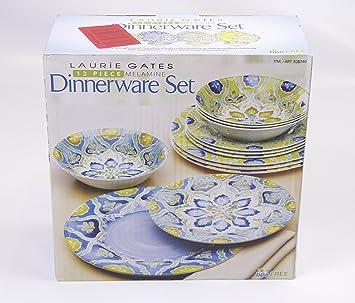 Amazon Com Laurie Gates 12 Piece Melamine Dinnerware Set