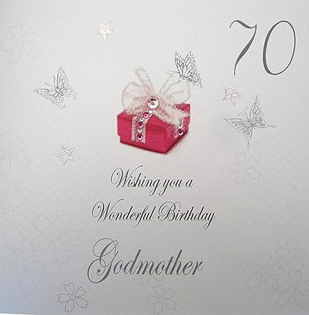 White Cotton Cards Bdp70 Godm 70 Wishing You A Wonderful Birthday
