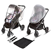 Ritmart Universal Baby Stroller Rain Cover + Mosquito Net + Hook Set | Waterproof, Water Resistant, Windproof, Weather Shield Protection, Ventilation