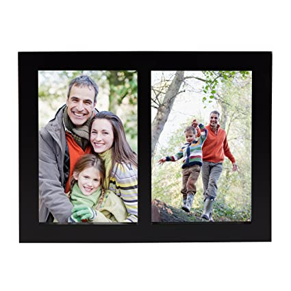 Amazon.com - Gallery 2-Opening 4x6 Wood Picture Frame, Black -