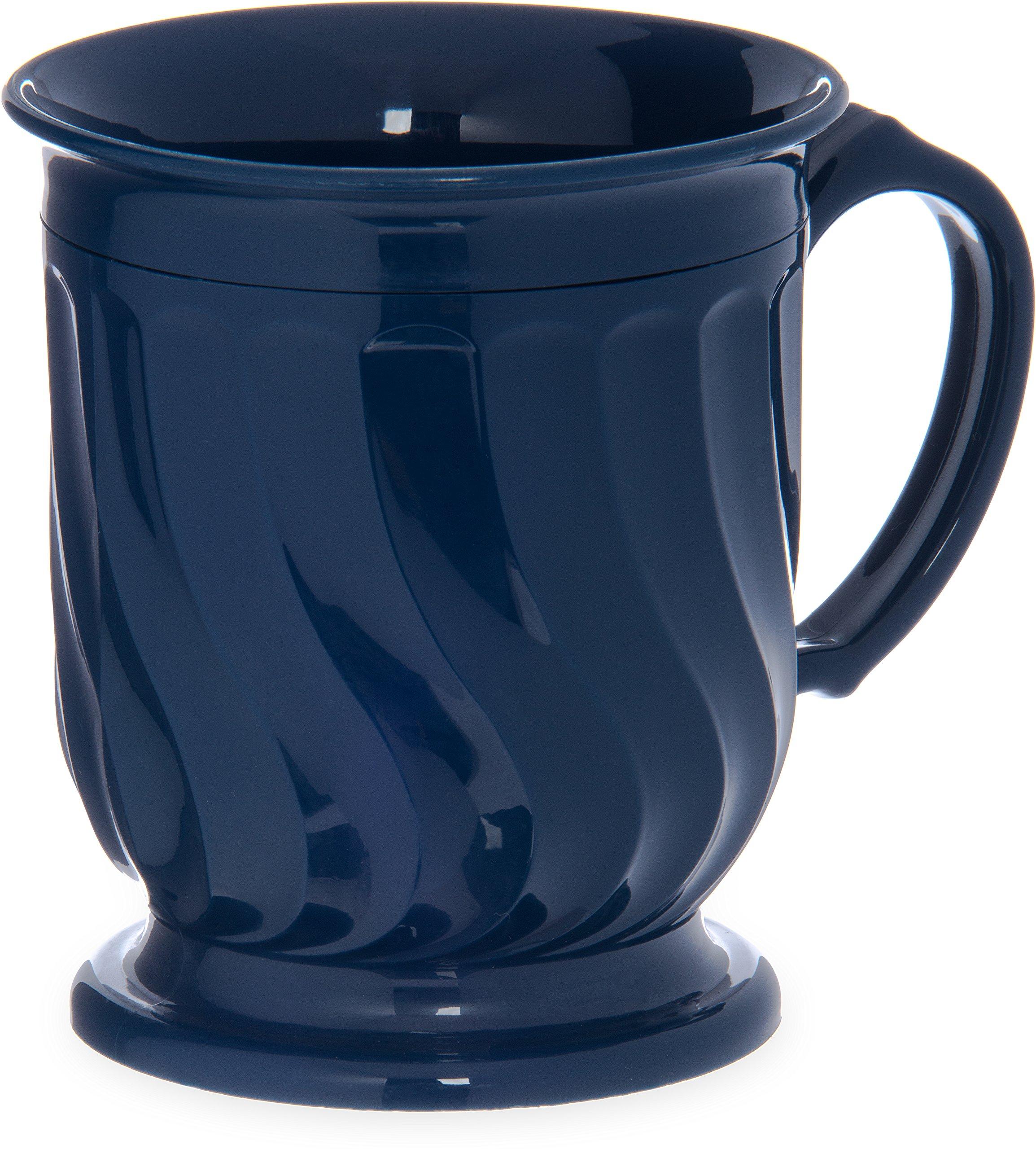 Dinex DX300050 Turnbury Insulated Pedestal Base Mug, 8 oz., 4'' Height, 3.5'' Width, 3.5'' Length, Urethane Foam, Dark Blue (Pack of 48)