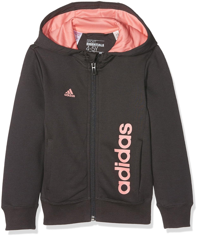 eb3e592f259a7 adidas Essentials Linear fille Hoodie Veste à capuche 5-6 ans ...