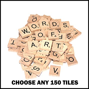 150 Wooden Word Game Letter Alphabetical Tiles of Your Choice (pick n mix) Pick your own Letters: Amazon.es: Juguetes y juegos