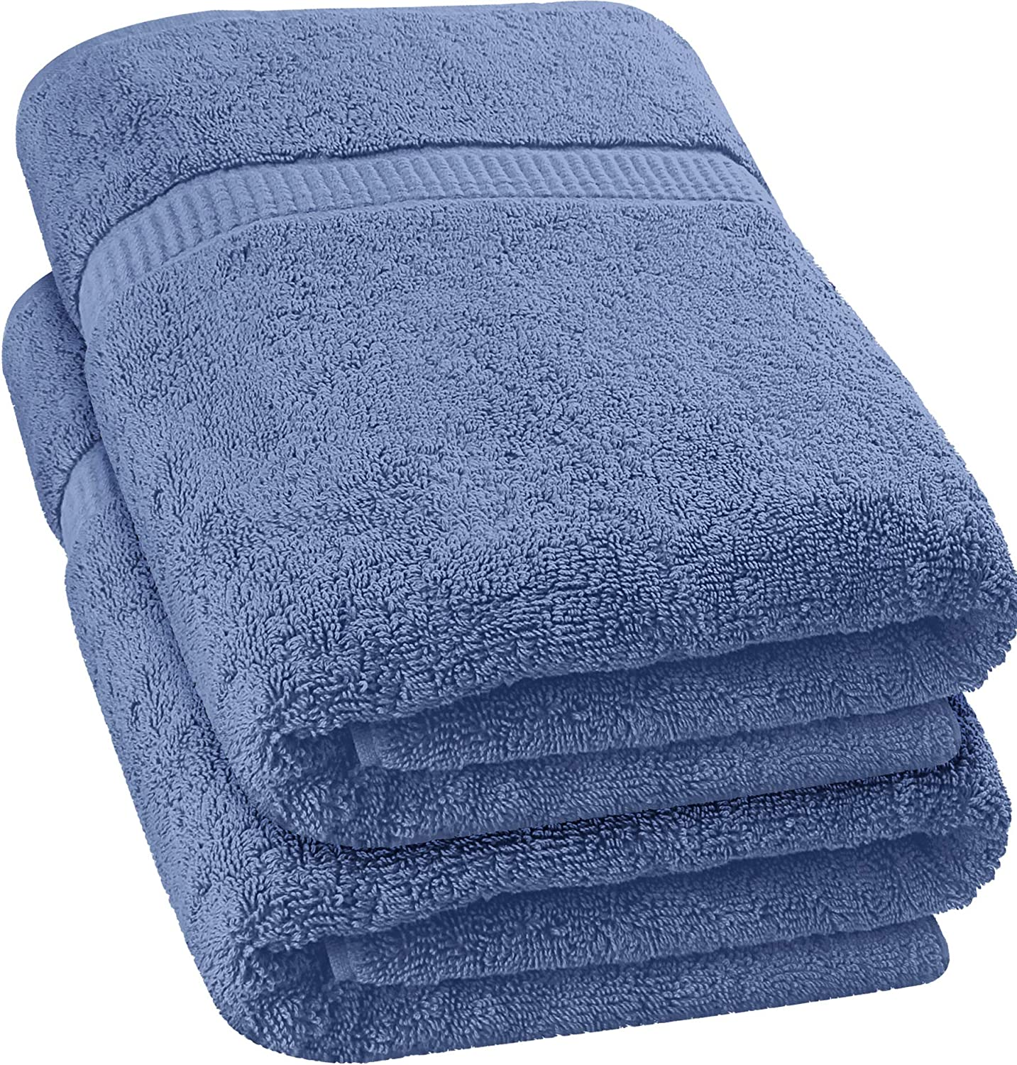 Utopia Towels Luxurious Jumbo Bath Sheet (35 x 70 Inches, Electric Blue) - 600 GSM 100% Ring Spun Cotton Highly Absorbent and Quick Dry Extra Large Bath Towel - Super Soft Hotel Quality Towel (2-Pack)