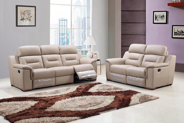 Amazon com blackjack furniture 9408 beige 2pc sofa set leather match sofa loveseat beige 2 piece kitchen dining