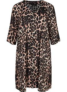 ea23feb7cf7244 Zizzi Damen Kleid Plissee-Falten Langarm Cocktailkleid Große Größen ...