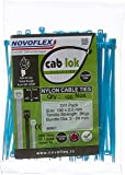 Novoflex Cable Ties 100mm, Blue, Pack of 100